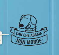 Sticker proverbi can che abbaia