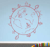 Wall sticker globo