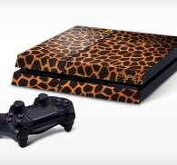 Sticker PS4 texture girafe