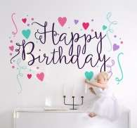 Vinilo decorativo happy birthday