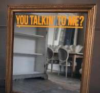 You Talkin' To Me?Mirror Sticker