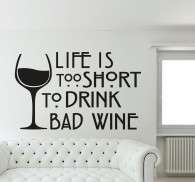 Sticker texte bad wine life