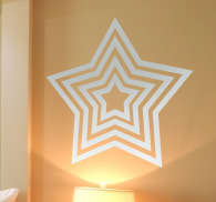 Concentric Star Sticker