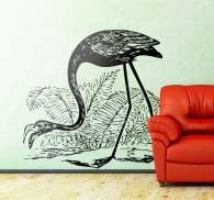 Sticker illustration flamant rose