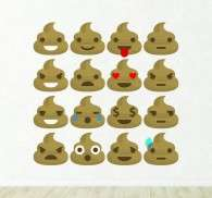Wall sticker emoticon