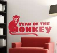 Vinilo decorativo year of the monkey