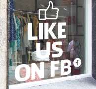 Sticker like us on facebook