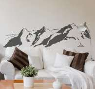Swiss Alps Silhouette Decorative Wall Sticker