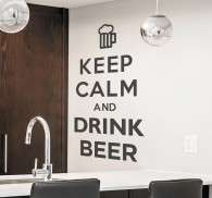 Wandtattoo Keep Calm Drink Beer