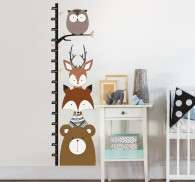Woodland Animals Height Chart Sticker
