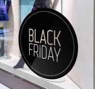 Pegatina elegante promo black friday
