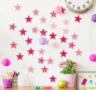 Pink Star Wall Stickers