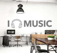 I Love Music Wall Sticker