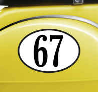 Personalised Number Sticker