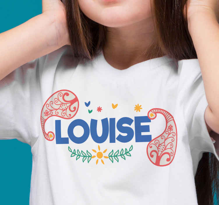 TenStickers. Colorful paisley design t-shirt. A lovely t-shirt for ladies to enjoy a casual outfit.  It is customisable with any name of choice and available in different colours and sizes.