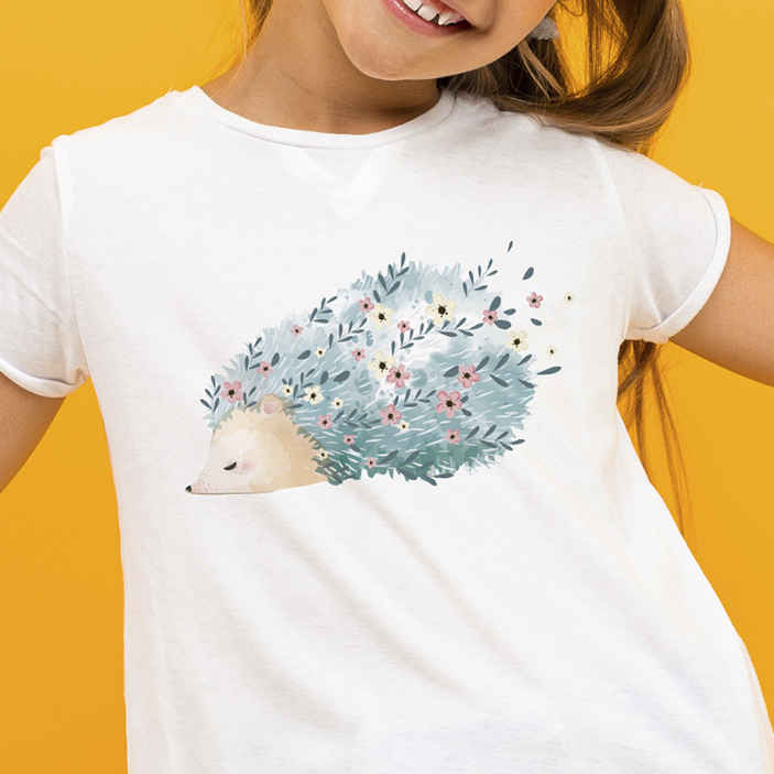 TenStickers. Porcupine pattern art t-shirt. Porcupine pattern design t-shirt to wear for the best of comfort feel.  It is easy to clean and the quality of it material is good.