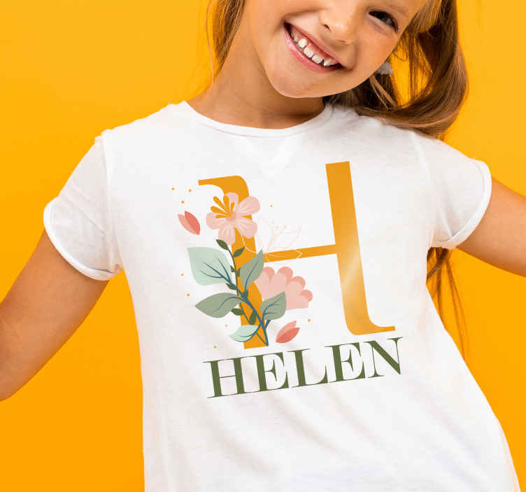 TenStickers. First letter and name shirt Baby t-shirt. give a look at this fantastic baby shirt and imagine how it would look as a clothing element for your children! Add it to your cart now!