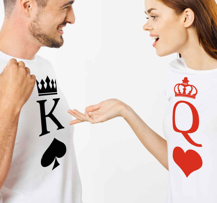 TenStickers. King & Queen matching shirts for couples. Add this matching shirts for couples to your shopping cart to buy it online and receive it in a few days! Home delivery !