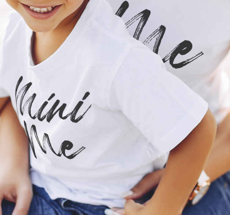 TenStickers. Me and mini me shirt Mother and daughter shirt. Combine with your little girl! With this Me and mini me t-shirt for mom and daughter t-shirts . We believe you will love these designs !
