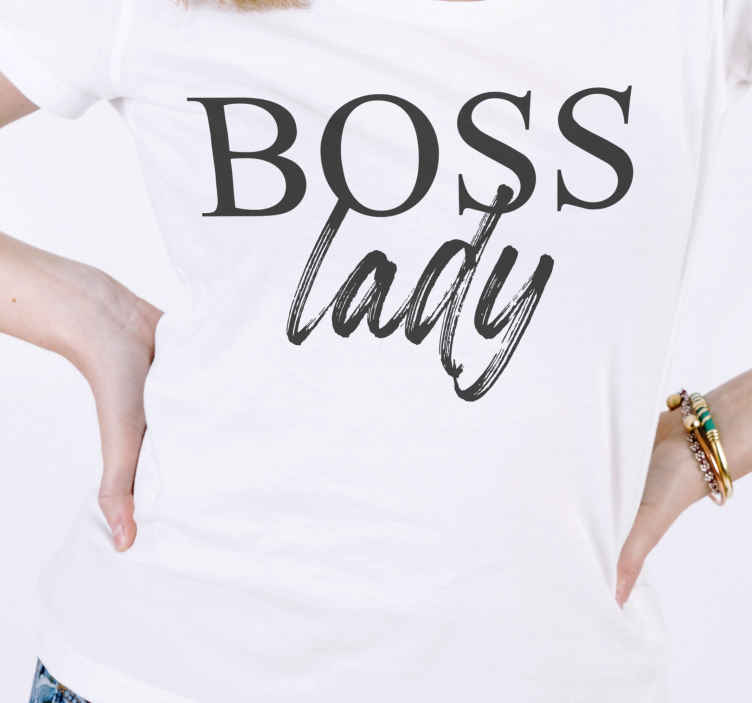 TenStickers. Boss lady and baby shirt Mother and daughter shirt. Don't you love watching your kids with one of these baby t shirts? these stickers with the text Boss man for  mother and daughter matching shirt!