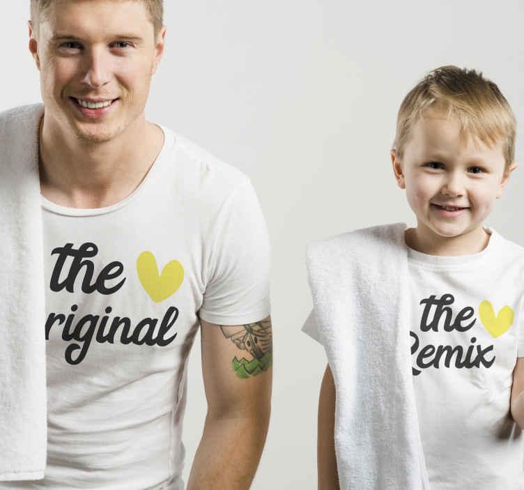 TenStickers. T-shirts koppels De originele en remix moeder en dochter t-shirt. Kijk eens naar deze geweldige bijpassende shirts voor koppels en zie hoe grappig ze zijn! Wacht niet langer en bestel hem vandaag nog!
