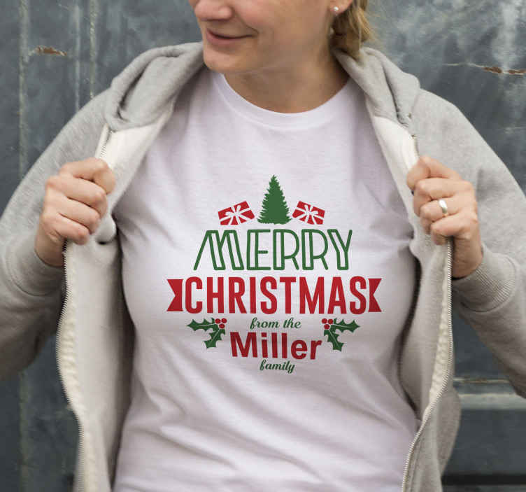 TenStickers. merry xmas and a happy new year christmas tee shirts. What could be a better gift to give to yourself or something you know than this unique christmas t-shirt design? Home delivery today!