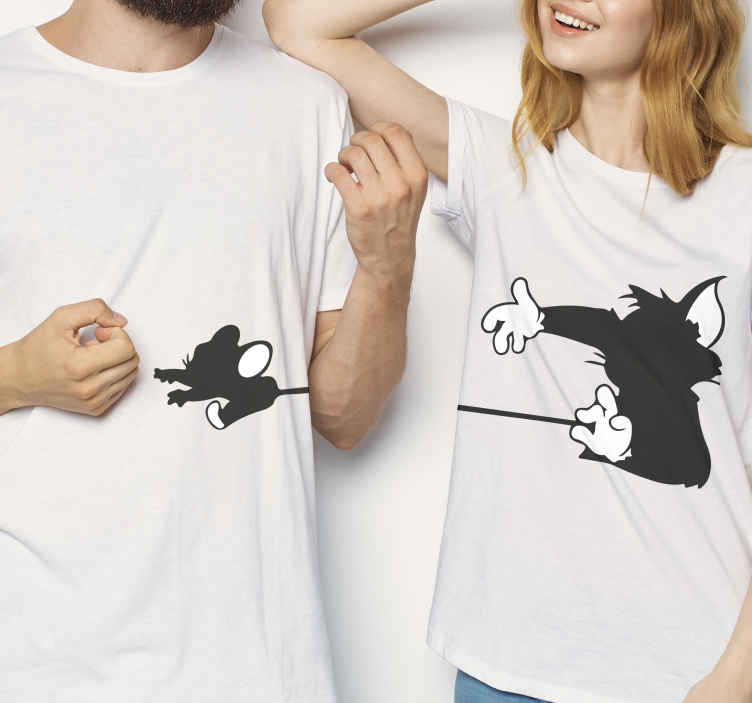 TenStickers. Tom and jerry matching shirts for couples. What could be a better gift to give to yourself or someone you know than this nice tom and jerry t-shirt design? Purchase this lovely product now!