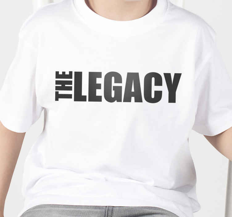 TenStickers. Sentence legend Father  and son shirts. If you want to get a new look that this father and son t-shirt is the best way to do it! You can choose among the various sizes that are available.