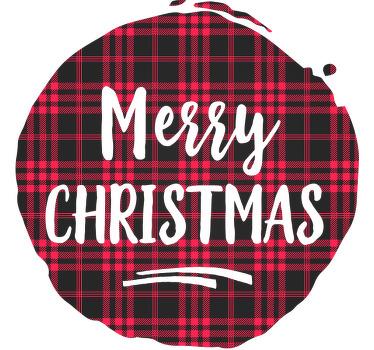 God jul i rød juleskjorte Tenstickers