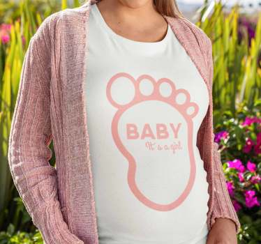 Cute mother t-shirt specially designed for mothers who are pregnant with a girl. This is a quality product to resist and last a long time.