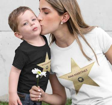 If you feel like a star and know that your children are stars too, don't hesitate to wear these gorgeous parents and kids matching t-shirt.