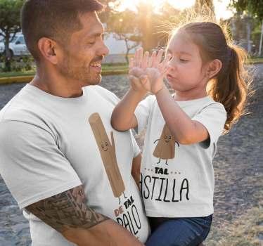 Las camisetas De tal Palo Tal Astilla para poder vestir iguales a padres, madres e hijos Este diseño es muy divertido, colorido y vistoso.