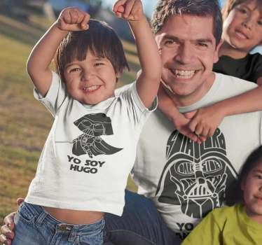 Estupendo kit de camisetas para los entusiastas de star wars Ahora padres e hijos podréis vestir igual con este bonito diseño de darth vader