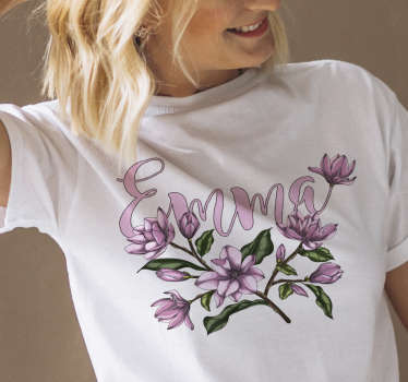 Show your love for flowers with this magnolia with name personalized t-shirt. A t-shirts that will amaze everyone. You will love it!