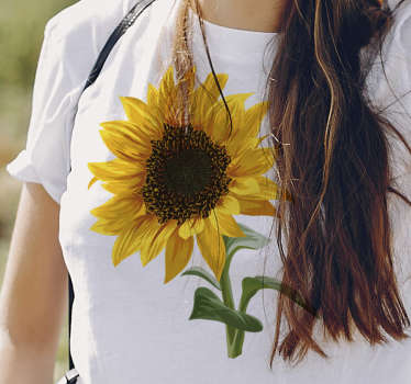Show your love for flowers with this sunflower t-shirt, with its beautiful bright colors. With this flower t-shirt you would amaze everyone you meet.