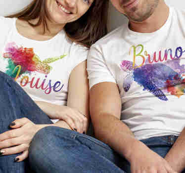 Give everyone the message with this funny matching animal t-shirt for couples that you are meant for each other, and that nothing can separate you.