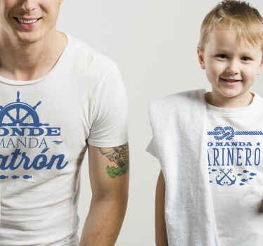 Una camiseta papá y bebé para disfrutar de una salida encantadora y un atuendo interior con diversión. Elige tala ¡Envío a domicilio!