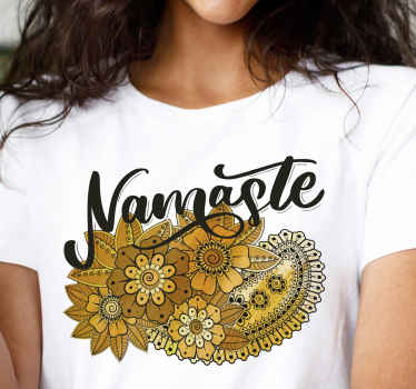 Greet everyone in an Indian namaste style in our trendy t-shirt design. It is of good quality, comfortable to use and available in different sizes.