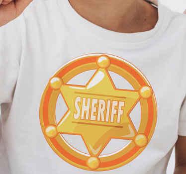 Diseño de camiseta con nombre personalizado de una insignia de sheriff para que vistas a tu propia moda ¡Envío a domicilio!