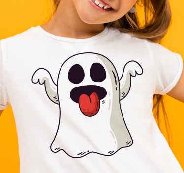 T-shirt with a small ghost. You will rock it with a pair of blue jeans and sneakers. Breathable and made of high quality material.