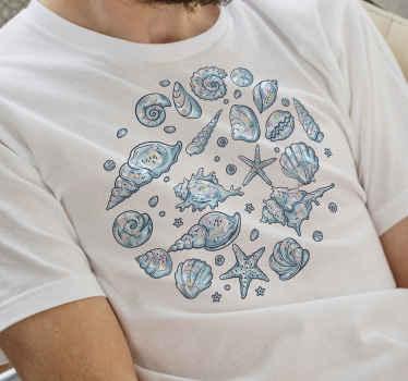 Camiseta de conchas marinas y estrellas de mar para usar durante el verano y hacer que todos se pongan celosos ¡Elige tu talla!