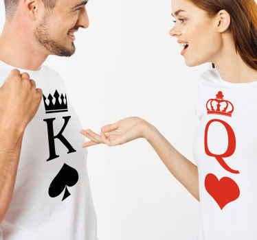 Ajoutez cette t-shirt pour couple assortie à votre panier pour l'acheter en ligne et la recevoir dans quelques jours! Livraison à domicile!