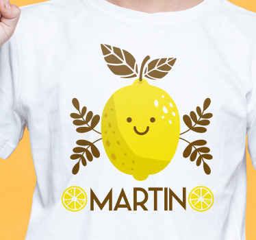 Profitez de notre t-shirt original aux citrons souriants. Parfait pour les enfants et les tanagers et peut personnalisé avec le nom que vous voulez.