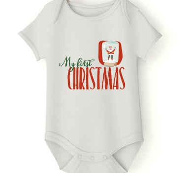 """¡Body bebé que realmente con la frase """"mi primera navidad"""" para tu pequeño! ¡Pida este producto ahora! ¡Descuentos disponibles!"""