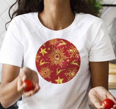 ¡Camiseta navideña de renos seguramente traerá mucha más luz a tu habitación! Elige la talla que desees ¡Descuentos disponibles!