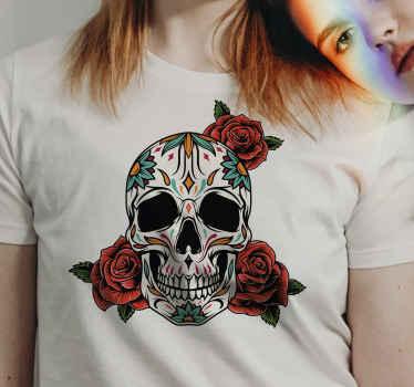 你喜欢墨西哥风格的头骨吗?您在寻找可爱的万圣节衬衫吗?这是正确的!在线购买!送货上门!