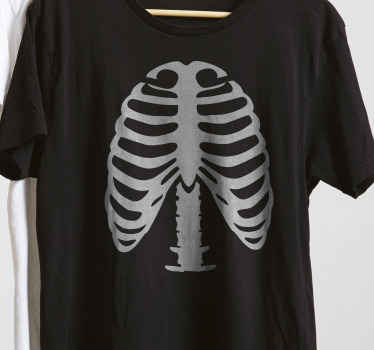 Tenstickers offers this ribs skelet t-shirt  digitally printed, ensuring an exceptional quality of the visual.Let's get your custom skelet T-shirt.