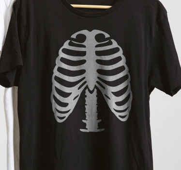 Tenstickers oferece esta t-shirt ribs skelet impressa digitalmente, garantindo uma qualidade excepcional do visual. Vamos obter a sua t-shirt skelet personalizada.