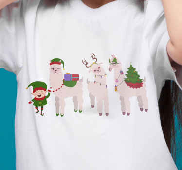 Grab your own festive llama t-shirt and bring your mood up with these beautiful llamas. Adjustable sizes and colors. Order it now!