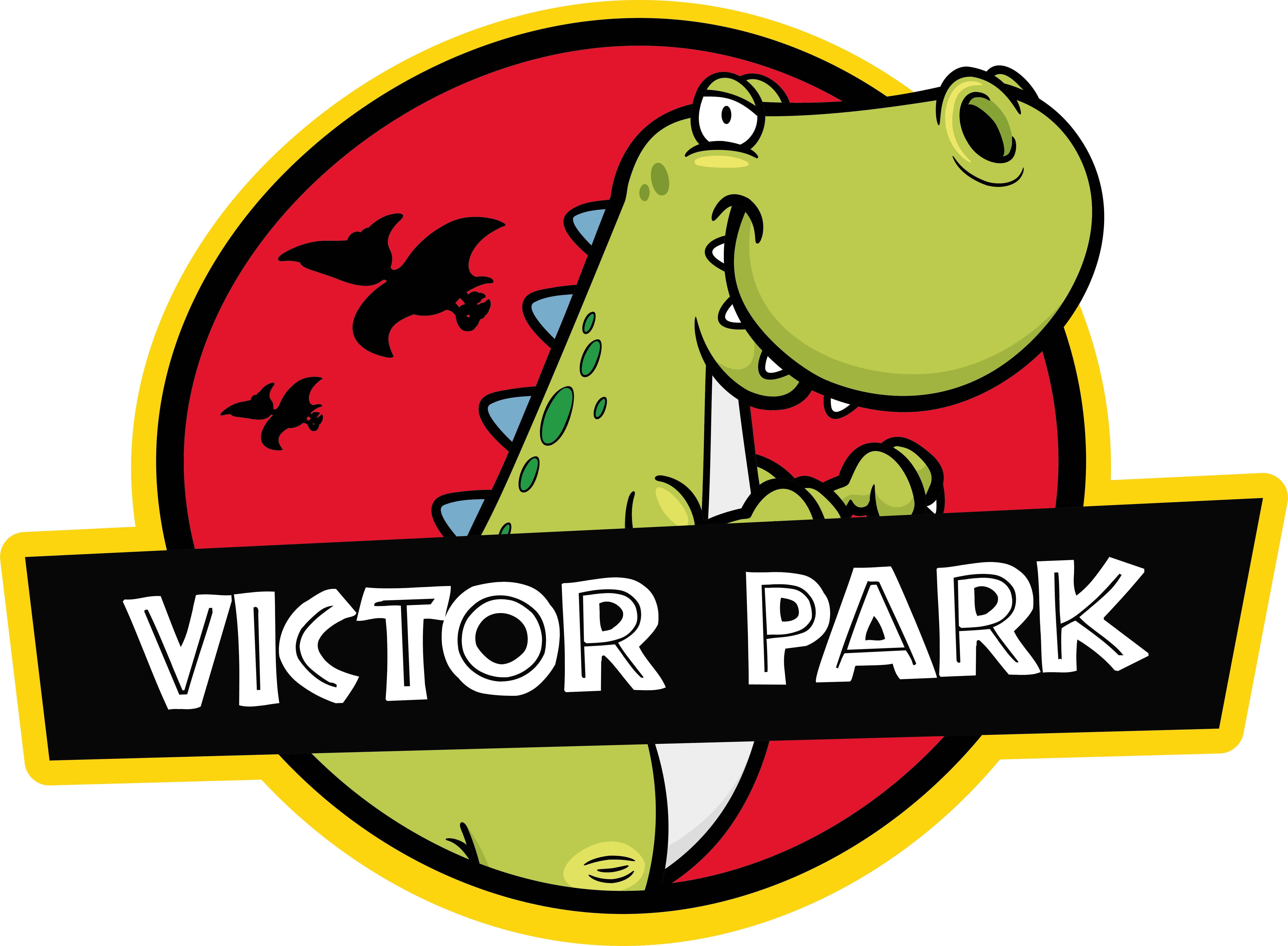 TenStickers. Jurassic Park dinosaur kids t-shirt  with name. Dinosaur kids t-shirt ofJurassic Park. he design is made up of a funny dinosaur with a mischievous face. Make the little ones enjoy their new outfit.